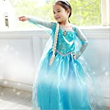 Princess Inspired Girls Costume Dress - Princess Costume (5-6 Years with Bracelet for Mom)