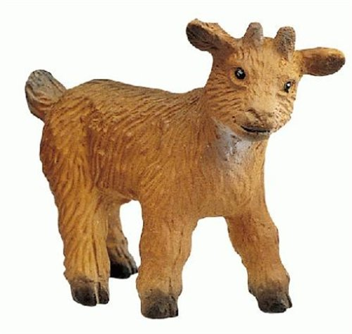 Bullyland Male Brown Goat Kid Plastic Toy Figure