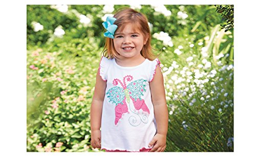 Mud Pie Spring Garden Easter Baby Toddler Girl Butterfly Cotton Tunic - Small (12-18 Months) (Mud Pie Easter Size 3t compare prices)