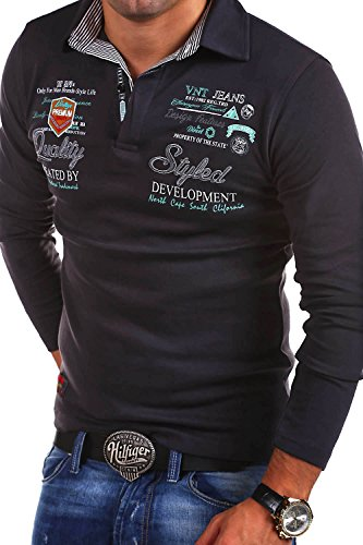 MT Styles - R-0657 - Polo a maniche lunghe EXCURSION - Grigio scuro - L