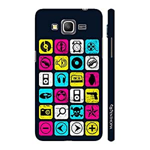 Enthopia Designer Hardshell Case Music Checkers Back Cover for Samsung Galaxy J2