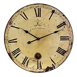 IMAX Large Wall Clock with Pendulum