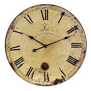 Amazon Com Imax 2511 Large Wall Clock With Pendulum Home