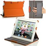 MoKo Slim-Fit Folio Stand Case for Apple New iPad 4 & 3 (3rd and 4th Generation with Retina Display) / IPad 2, Orange