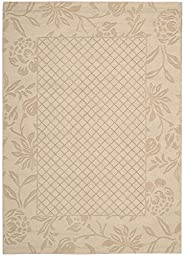 3 Ft. 6 In. x 5 Ft. 6 In. (4x6) Rug ,Light Gold Floral Wool Handmade