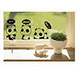 Efivs Arts 7 Pcs Cute Animals Removable Creative Light Switch Decals Bedroom Wall Laptop Stickers,Black