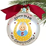 Florida State Seminoles (FSU) Silver Born To Be Baby Boy Christmas Ornament
