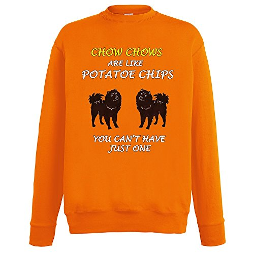 dogs-are-like-chips-chow-chows-arancio-fruit-of-the-loom-mens-sweatshirt-uomo-cotone-felpa-set-in-le