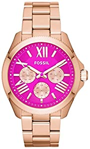 Pink Cecile Multifunction Stainless Steel Watch by Fossil