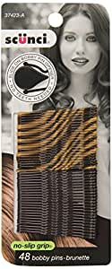 Scunci No-slip Grip Beautiful Blends Bobby Pins, 48-Count