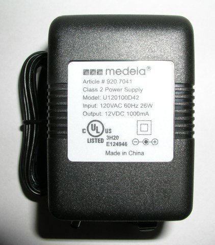 Medela Power Adapter Transformer for Pump In Style breast pumps - model Advanced #9207041 - 1