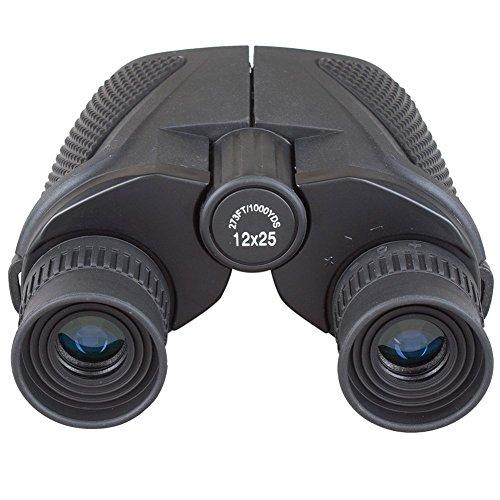 Outdoor 12x25 impermeabile Binocolo grande oculare (BAK4, Lens Verde), ultra-trasparente ad alta potenza per la caccia escursionismo esplorazione Visualizzazione e vela
