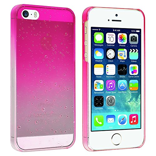 Eforcity® Clear Hot Pink Waterdrop Raindrop Hard Case Compatible With Apple® Iphone® 5 / 5S