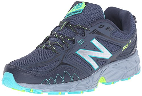 New Balance Women's WT510V3 Trail Shoe, Thunder/Reef, 10 B US