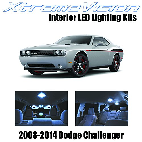 XtremeVision® Dodge Challenger 2008-2014 (10 Pieces) Cool White Premium Interior LED Kit Package + Installation Tool (Dodge Challenger Breaks compare prices)