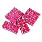 4pc/Set Bra Underwear Sock Ties Organizer Storage Box for Drawer Divider Closet