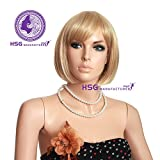 Hsg Bob Sunny Blonde Oblique Bang Oblique Bang Short Wigs Hot For Young Women Ladies