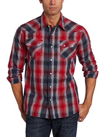 Levi's Men's Proctor Woven, Red/Navy, Large