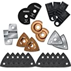 Rockwell RW9176K Super Refill Kit for Sonicrafter Tool includes 14 Accessory Attachments and 20 Sanding Sheets