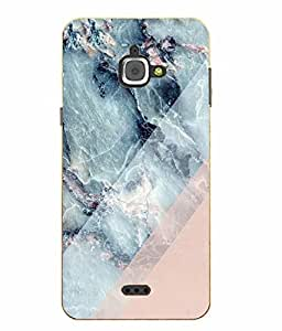 Make My Print Marble Printed Pink Hard Back Cover For InFocus M350