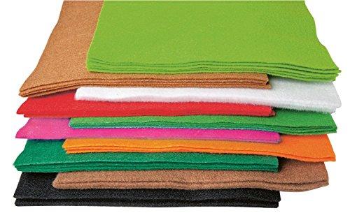 bastelfilz 50 platten 20 x 30 cm filz filzplatten 10 farben sortiert. Black Bedroom Furniture Sets. Home Design Ideas