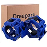 "Olympic Barbell Collar, Dreapark 2"" ABS Barbells Locking Collars Clamps with Quick Release (1 Pair with Dreapark Box Package)"