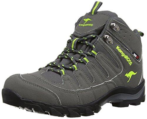 KangaROOS K-Trekking 3007W, Scarponcini outdoor Donna, Grigio (Grau (dk grey/lime 287)), 38