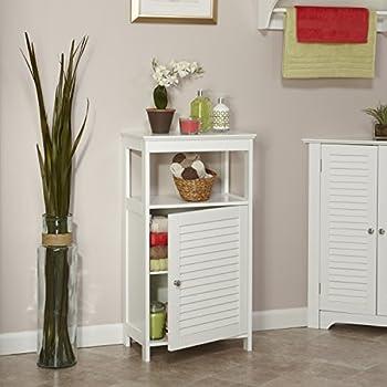 RiverRidge Home Ellsworth Collection Single Door Floor Cabinet, White