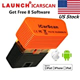 LAUNCH X431 ICARSCAN OBD2 Code Reader Replace X431 iDiag X431 Easydiag plus X431 M-Diag Auto Diagnostic Tool Full Systems with 8 Software free Support for Android and Iphone Update Online