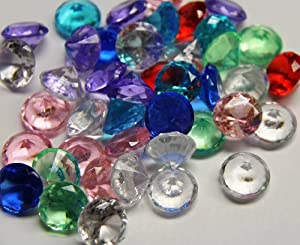 Mixed Color Acrylic Crystal Diamond Confetti Table Scatter 1 lb. Bag