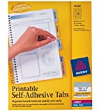 Avery  Printable Self-Adhesive Tabs, 80 Tabs, 1.75 inches x 1 inch (16283)