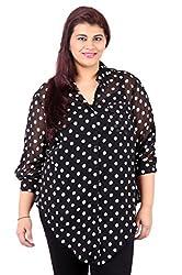 White Polka Dot Printed Black Shirt_LISS500_16
