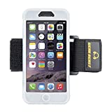 Gear Beast GearBand Silicone Sports Armband For Apple iPhone 6s / iPhone 6 (4.7 Inch) With Two Armband Straps + FREE Screen Protector (Clear)