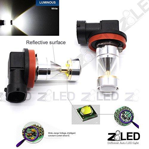 Z8® 2X H11 Drl Fog Light Auto Led High Power 30W 6000K Super Bright White Projection Fog Light 2014 New 360° 12-24V Z8 White#9G-H11