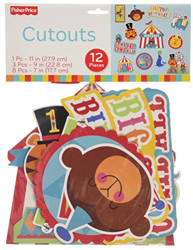 Fisher Price First Birthday Circus Cutouts (12pc)