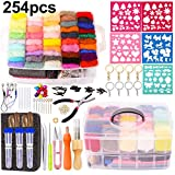 Needle Felting Kit - Complete Needle Felting Tools and Supplies with Felt Wool 50 Colors, Felt Molds, High Density Foam Pad Storage Box for DIY Craft Animal Home Decoration Holiday Gift