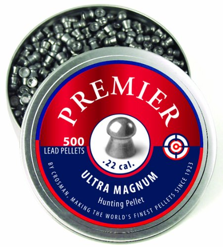 Crosman Domed Premier Pellets, 0.22-Calibre, 500 Count