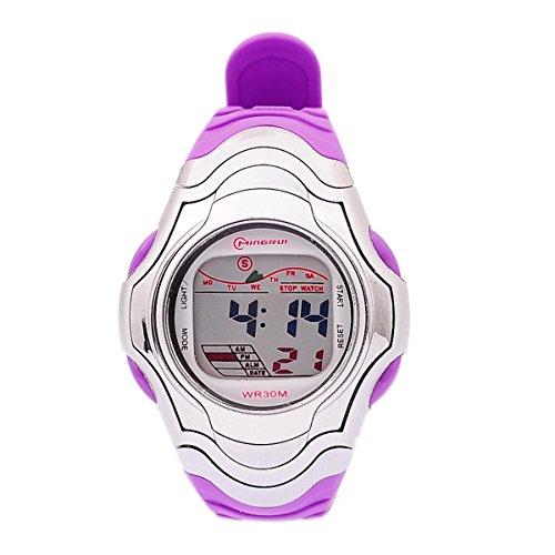 8Years- 1 Stueck Digitaluhr Armbanduhr Watch Stoppuhr Sportuhr Wasserdicht Violett