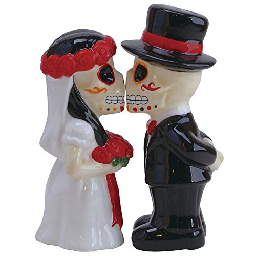 Westland Giftware Wedding Magnetic Salt & Pepper Shaker Set, Multicolor