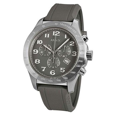Alfex 5680/805-Montre Mixte-Bracelet Caoutchouc gris