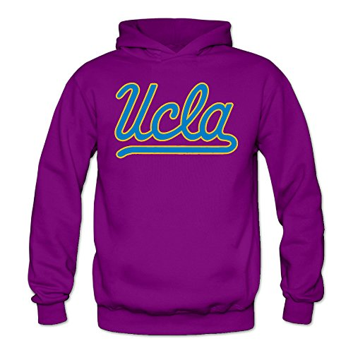 Women's Ucla Bruins-primary Logo Sports Blank Hooded Sweatshirt Medium Purple