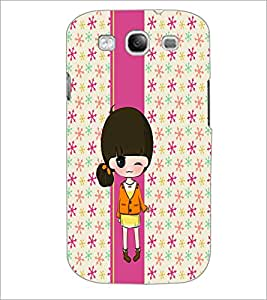 PrintDhaba Cute Doll D-5858 Back Case Cover for SAMSUNG GALAXY S3 (Multi-Coloured)