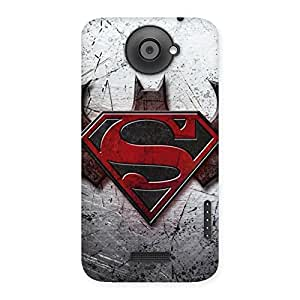 Ajay Enterprises Ft Super vs Awesome Batx Back Case Cover for HTC One X