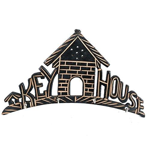 The Hue Cottage porte-clés indien maison artisanale conception brun vitrine en bois mural decorative des articles de cadeau