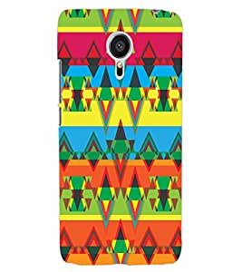 ColourCraft Tribal Pattern Design Back Case Cover for MEIZU MX5