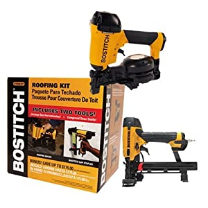 Bostitch ROOFKIT2 1-3/4 in. Roofing Nailer and 18 Gauge Cap Stapler Combo Kit by Bostitch