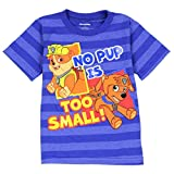 """Nickelodeon Toddler Boys Paw Patrol """"No Pup is Too Small"""" T-Shirt (4T, Blue)"""