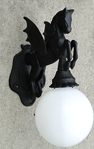 PEGASUS Wall Mounted SCONCE light indoor or outdoor winged dragon horse