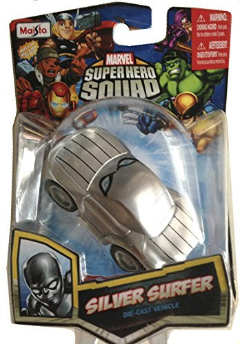 Silver Surfer Die-cast Collection Marvel Super Hero Squad Car - 1