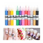 Tinksky 12 Colors UV Gel Acrylic Tips...